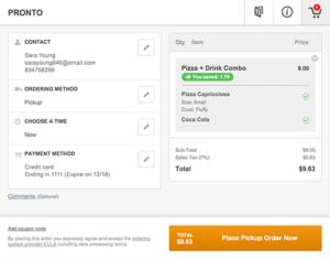 Benutzerfreundliches Online Bestellsystem für Restaurant und Lieferdienste
