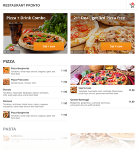 Online Menü und Speisekarte für Restaurant und Lieferdienste