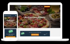 Webseite für Lieferdienst, Kurier und Restaurant