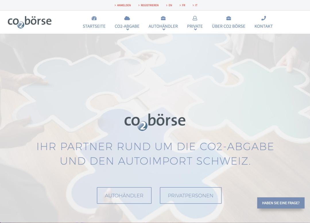CO2 Börse AG Digital Marketing Projekt